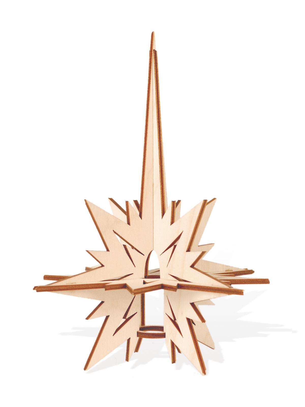 christbaumspitze aus holz. Black Bedroom Furniture Sets. Home Design Ideas